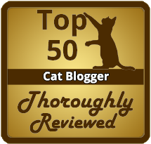 Buffy is honored to be chosen as a Top 50 Cat Blogger